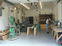Our fully equipped woodshop
